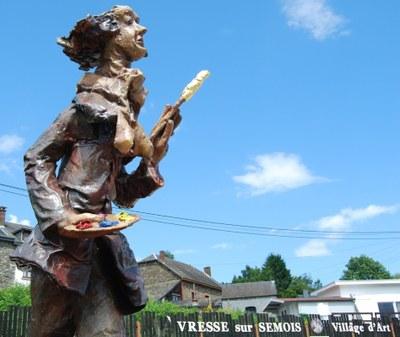 2009 - vresse - eté - statue peintre redim.jpg